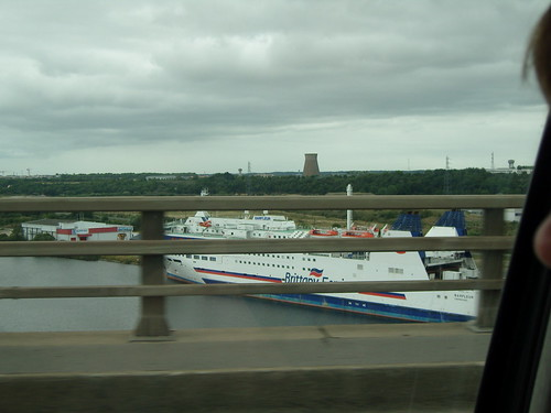Brittany Ferries' Barfleur moored up in Caen after being withdrawn from the Poole route