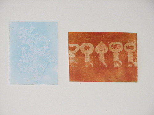 Wax Paper Technique #3 - Wax Paper Stamping 009