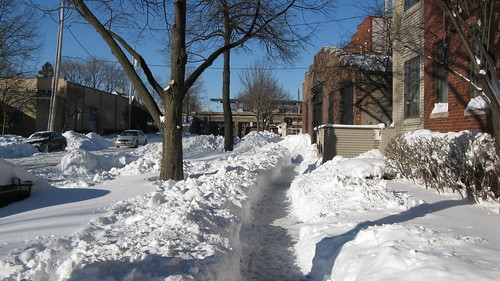 The aftermath of the Chicago blizzard of 2011. Evanston Illinois USA. Thursday, February 3rd, 2011. by Eddie from Chicago