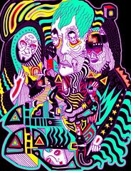 Nihilists (ZigZagLand) Tags: people color art lines ink poster design photo wings graphics events arts screen printing empire posters com prints rgb invert cmyk nihil nihilists johnstidham zigzagland