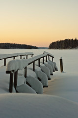 50/50 Day 41 (Mazelo) Tags: winter sunset sky lake snow cold ice finland 50mm prime pier frozen nikon 5050 savonlinna d90 project50 twittographers