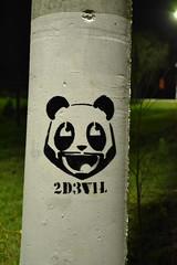Panda Stencil (2D3V1L) Tags: home stencil panda 2010