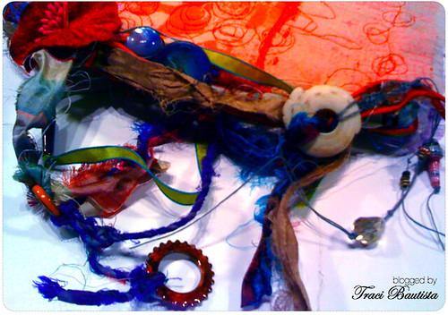 recycle sari & beads
