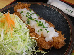 あけと「おろしかつ定食」(850円)