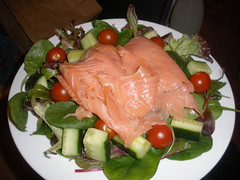 Daily salad - this time with smoked salmon