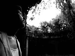 Hope for a better world (René Mollet) Tags: better world underground hope looking man blackandwhite bw urban street streetphotography shadow silhouette streetart renémollet