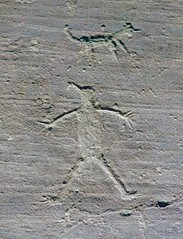 Petroglyphs / Chaco Culture NHP (Ron Wolf) Tags: anthropology archaeology chacoculturenationalhistoricalpark nationalpark nativeamerican anthromorph anthropomorph dog petroglyph rockart zoomorph newmexico