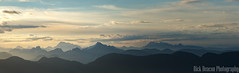 Daybreak Over Mountains Panorama (Rick Deacon) Tags: canada panorama british clear clouds columbia dawn daybreak mist mount mountains north pastel seymour sun sunrise vancouver view