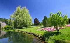 Promenade - 3254 (YᗩSᗰIᘉᗴ HᗴᘉS +6 500 000 thx❀) Tags: annevoie belgium belgique jardinsdannevoie blue bluesky nature parc park water wallonie europa hensyasmine