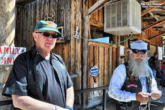 June 24 2017 - Fran and Mark at the Ten Sleep stop (La_Z_Photog) Tags: 062417keithspokerrun lazy photog elliott photography badlands poker run worland wyoming ten sleep buffalo brewing company saloon meadowlark lodge harley davidson motorcycle