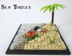 Sea Turtles (Jacob Nion) Tags: lego pirate eurobricks moc vignette maroon turtle shipwreck island