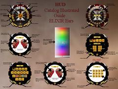 ..ELIXIR.. Catalog Illustrated Guide Ears (julieabd) Tags: ears blood tattoo facial mesh head slink applier adam catwa logo gaeg akeruka omega genesis lab lag