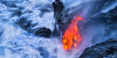 Mana (Chris Williams Exploration Photography _) Tags: lavaflow lava landscape nature seascape water longexposure hawaii bigisland g61 kalapanaflow oceanentry volcano eruption chriswilliams ocean sea rock