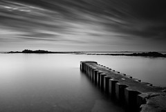 vision on mono (s k o o v) Tags: longexposure blackandwhite bw beach silver burn dodge 1740l nd110