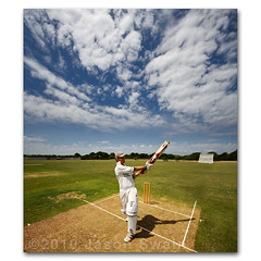 Village Cricket Shots #3. The Pull Shot (s0ulsurfing) Tags: pictures uk trees shadow summer portrait england sky cloud sunlight game green english sports field sport june clouds pose island pull photography skies sam dynamic bright action britain bat wide perspective picture fluffy wideangle cricket kinetic photograph vectis isleofwight 7d static match pitch british batting sporting isle dynamism nube stumps sportsman wight meteorology 2010 pads batter nephology wicket cricketers 10mm batsman howzat sigma1020 batsmen s0ulsurfing villagecricket pullshot canon7d freshwatercc