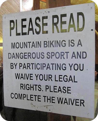 mountain biking is a dangerous sport waiver