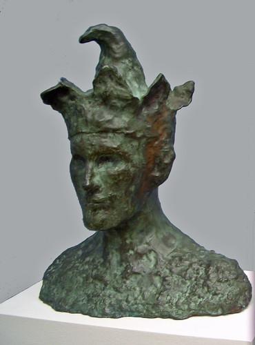 Picasso, Pablo (1881-1973) - 1905 Head of a Jester (bronze)