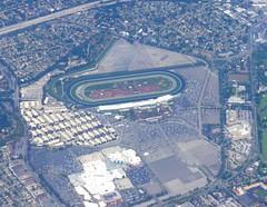 Santa Anita from above (twomets) Tags: california aerial shoppingmall horseracing arcadia santaanita