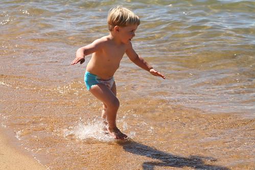 Running and Splashing