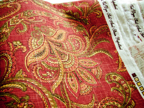 175/365: Red Paisley Fabric