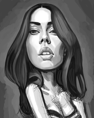 digital caricature of megan fox - 1 small