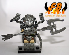 Predator Patriarch 4 (Brick Mercenaries Custom Minifigures) Tags: smart lego alien aliens plasma wrist vs predator disc blades predators caster