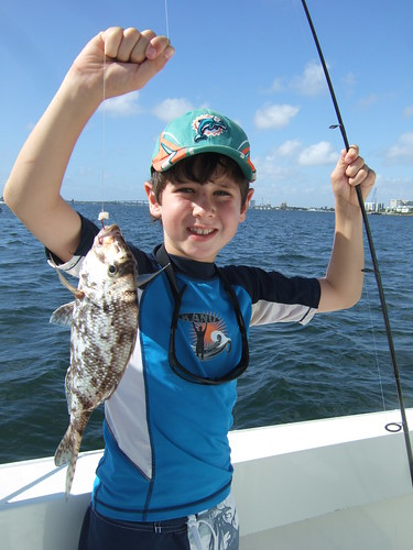 Jacob catches a porgy