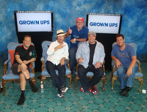 Con Rob Shneider, David Spade, Kevin James y Adam Sandler