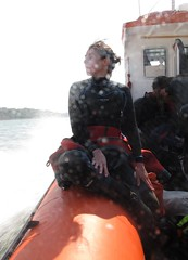 back to shore (squeezemonkey) Tags: portrait boat diver anglesey menaistrait holborndiver questdiving