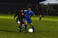 Night game vs. Woodbridge (Rock Steady Images) Tags: toronto ontario canada sports canon eos soccer 7d 50views topaz nightgame monopod underlights 25views canonef70300mmf456 7pointsystem bypaulchambers photoshopcs4 southsimcoeunited cjmenecola rocksteadyimages