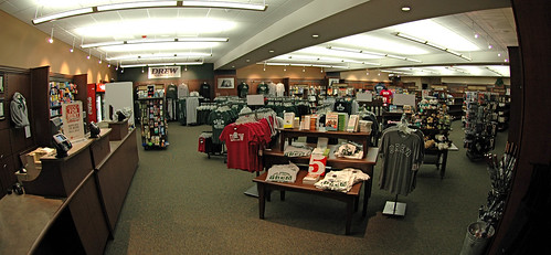 the inside view of the Kean University bookstore which accompanies a lot of the university's merchandise as well as, books for students.