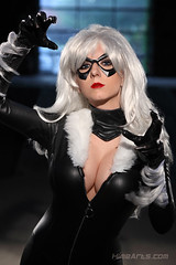 Black Cat got your Tongue (A_Riddle) Tags: man black cat blackcat felicia spider costume cosplay spiderman marvel hardy