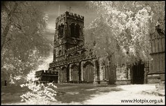 Church Of St Helen Witton, Northwich, Cheshire UK (Hotpix [LRPS] Hanx for 1.5M Views) Tags: uk red england building english buildings ir cheshire tony filter infrared infra tdk hoya northwich r72 hotpix tonysmith tdktony tonysmithphotography tdktonysmith
