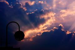 unzip -c clouds.zip (visitor1337) Tags: morning blue light shadow red rot lamp clouds dawn licht wolken roofs blau schatten antenne antenna strassenlaterne dcher