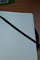 Lined notebook pages