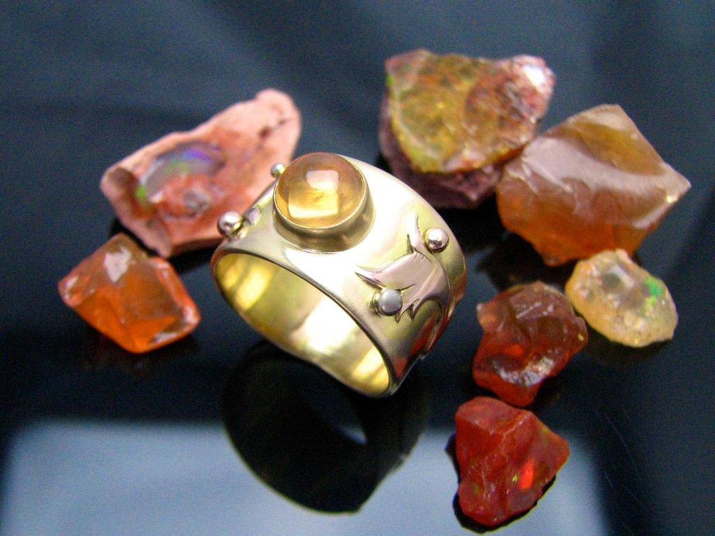 gold fire opal ring 3