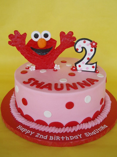 Little Girl Elmo Birthday Cake