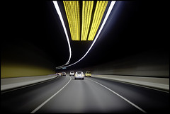 ending soon (Luke Tscharke) Tags: light cars tunnel fluid trail freeway handheld tollway citylink burnleytunnel lushaki