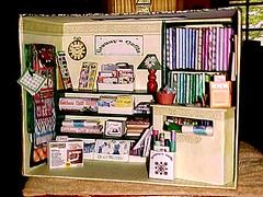 a pic of my quilt shop made several years ago..all cardboard and printies.. Jo in GA..