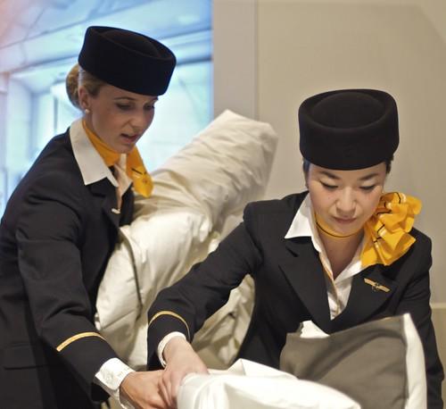 A380 Lufthansa First Class presentation in Tokyo