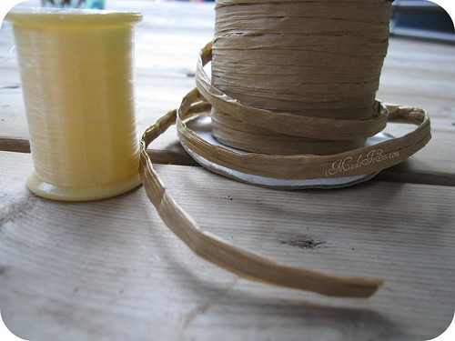 clear thread versus raffia twine