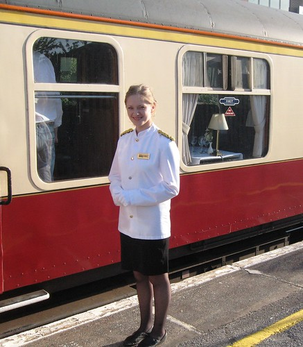 Pullman Dining - Stewardess on the Heritage Train (UK)