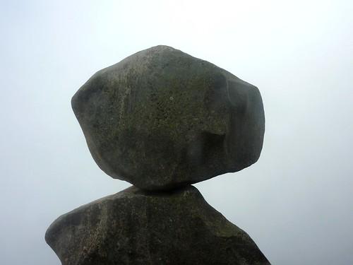 Uomu di Cagna : le bloc sommital ingrimpable