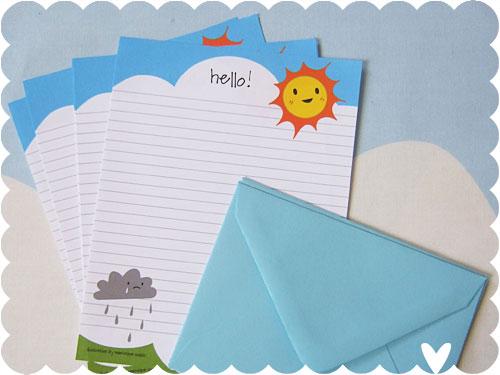 Sun & Rain Letter Set