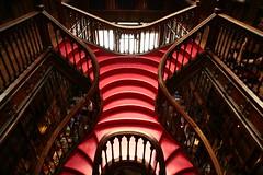 Courbe féminine (nuagezen) Tags: porto escalier librairie courbe féminine