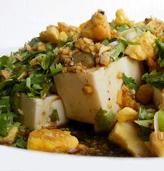 Tofu Salad with Salty Duck Eggs (FotoosVanRobin) Tags: recipe salad eggs preserved salade salted recept  duckegg  saltedduckegg gezouten silkentofu  gezouteneendenei gezouteneendeneieren eendeneieren  eendenei itlognamaalat asianingredients  gepreserveerdeeieren coldtofuwithsaltedduckeggyolk zijdentofu xinydn htvtmui aziatischeingredienten aziatischeingredientennl aziatischeingredinten