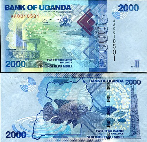 2000 Šilingov Uganda 2010