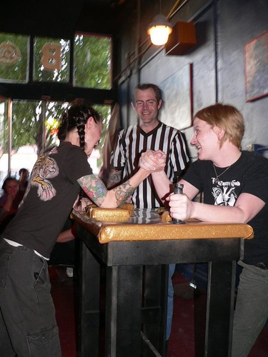 Ladies of Arm Wresting @ B-Side, Portland