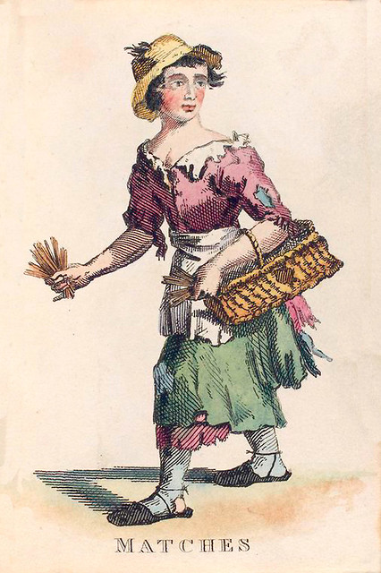 012-Vendedora de cerillas-Costume of the lower orders of the metrópolis 1820- Lord  Thomas Busby