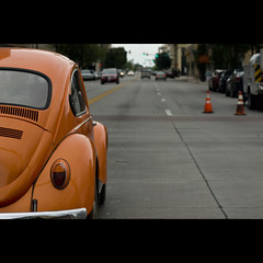 070810 (AgentThirteen) Tags: road street orange car bug drive automobile driving beetle 365 volkswagon volkswagonbeetle bugcarautoclassic